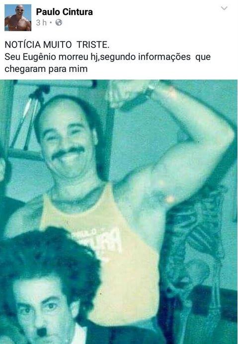 Paulo Cintura lamenta morte do amigo (Foto: Reprodução/Facebook)