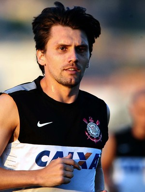 Paulo André Corinthians treino (Foto: Marcos Ribolli / Globoesporte.com)