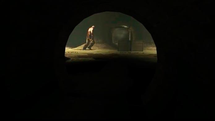 Chris Walker está sempre nas cenas mais assustadoras do game (Foto: Reprodução/Tais Carvalho)