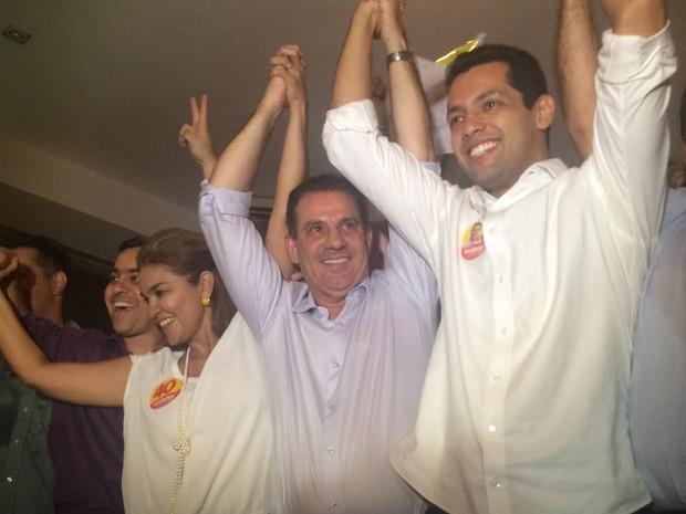 Vanderlan (PTB) vai para segundo turno das eleições para prefeito de Goiânia Goiás (Foto: Vitor Santana/G1)