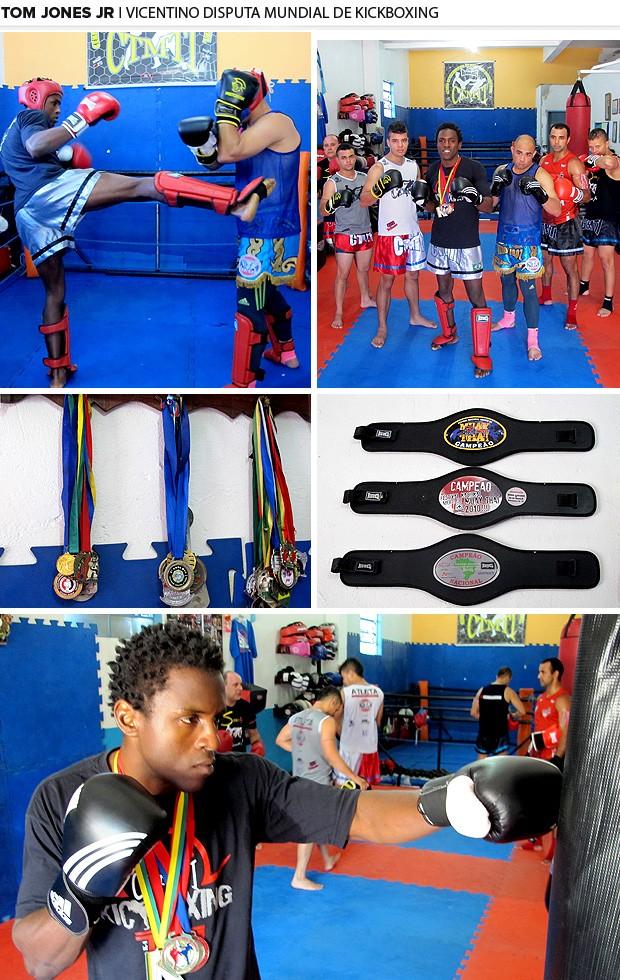 Mosaico Vicentino disputa Mundial de Kickboxing (Foto: Editoria de arte)