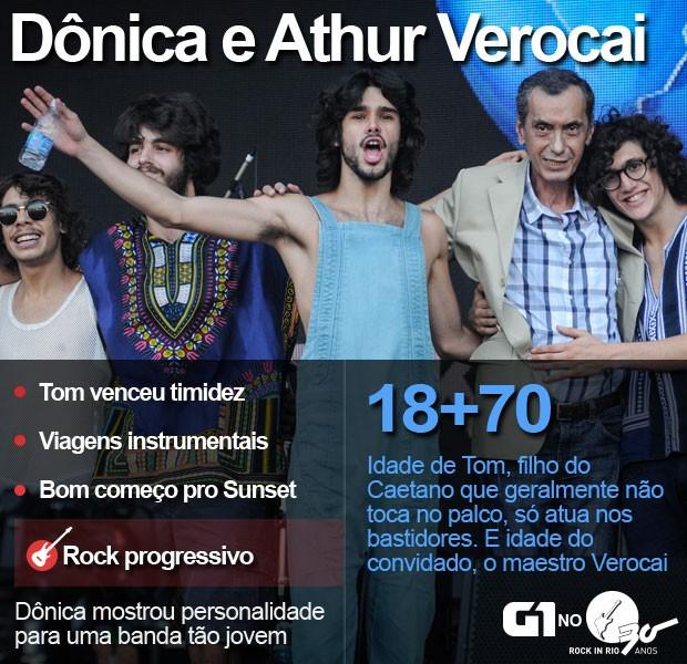 Dônica e Arthur Verocai abrem Palco Sunset do Rock in Rio (Foto: Alexandre Durão/G1)