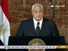 Presidente interino do Egito denuncia tentativa de levar país ao 'caos'