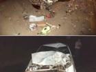 Jovem morre em acidente entre duas motos e um carro na PR-487
