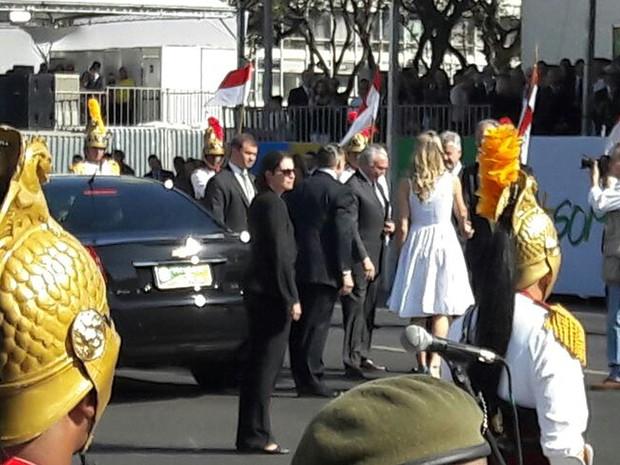 O presidente Michel Temer participa do desfile de 7 de Setembro (Foto: G1)
