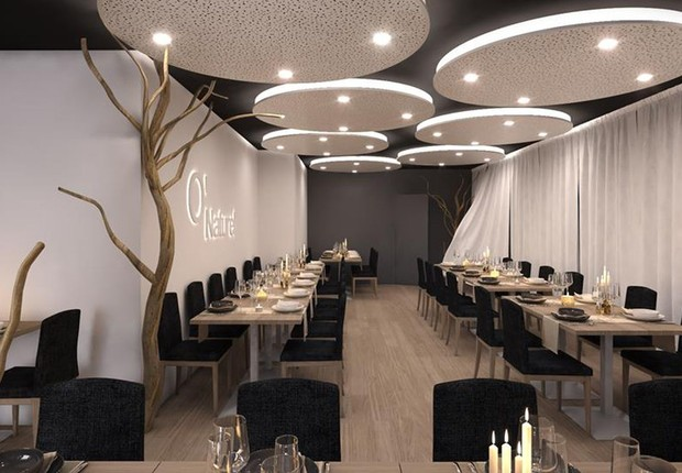 Restaurante O'naturel foi inaugurado em Paris: para clientes que querem jantar sem roupa (Foto: Reprodução/Facebook)
