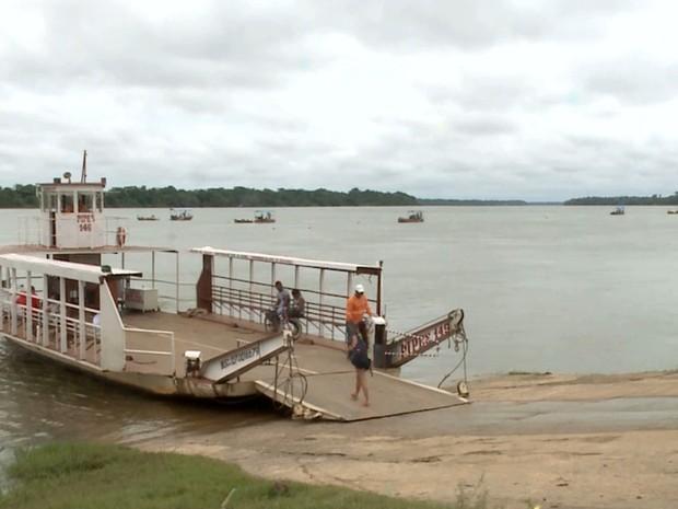 Rio Tocantins vem sofrendo impactos que afetam o corpo hídrico em Imperatriz (MA) (Foto: Reprodução/TV Mirante)