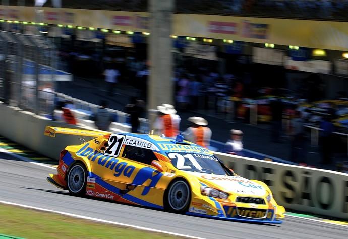 Thiago Camilo teve problemas no câmbio e viu título escapar - Corrida do Milhão Stock Car (Foto: Divulgação)