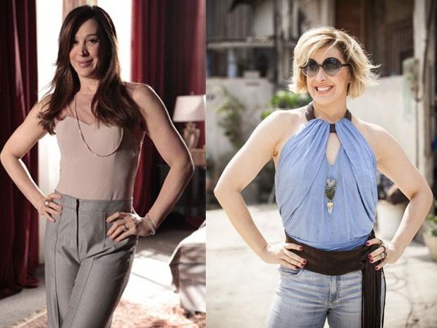 Claudia Raia em Salve Jorge e agora como Samantha em Alto Astral (Foto: Salve Jorge/Rapha Dias/Gshow)