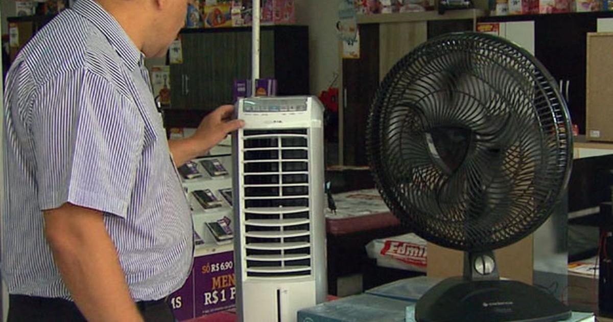 Calor faz procura por ventiladores disparar em Varginha, MG - Globo.com