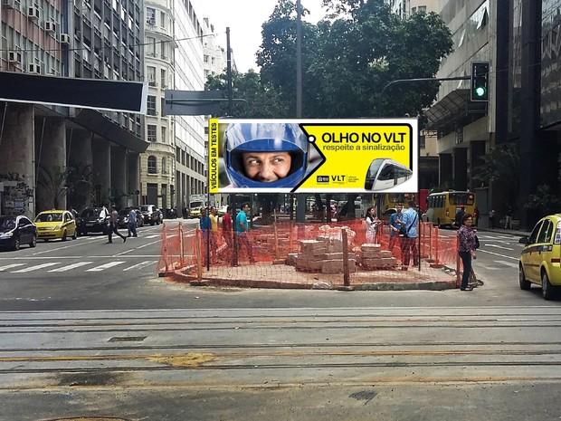 Placas serão espalhadas pelo Centro do Rio (Foto: Divulgação / Secretaria Municipal de Transportes do Rio)