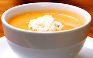 Sopa de abóbora com queijo gorgonzola