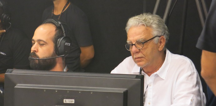 Pedro Santana e Sérgio Siqueira, na gravação dos musicais (Foto: TV Bahia)