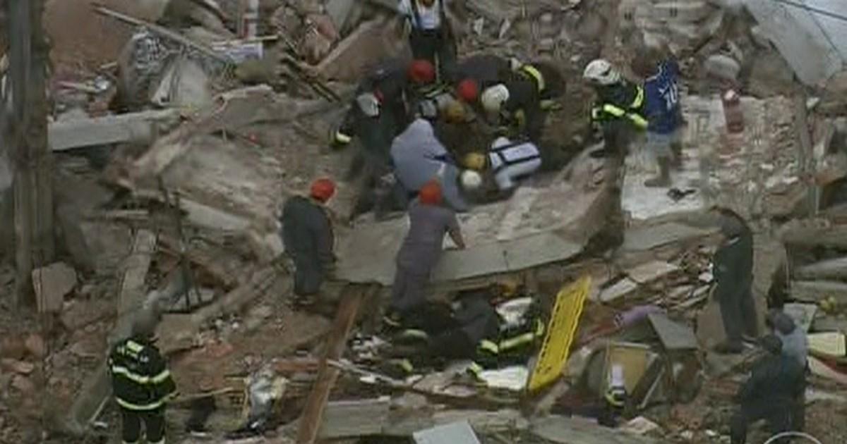 Desabamento de imóveis deixa um ferido em São Bernardo do Campo