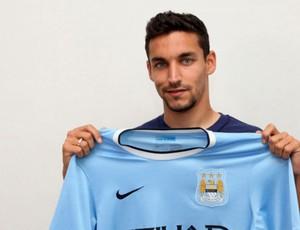 Jesus Navas Manchester City (Foto: Site Oficial do Manchester City)