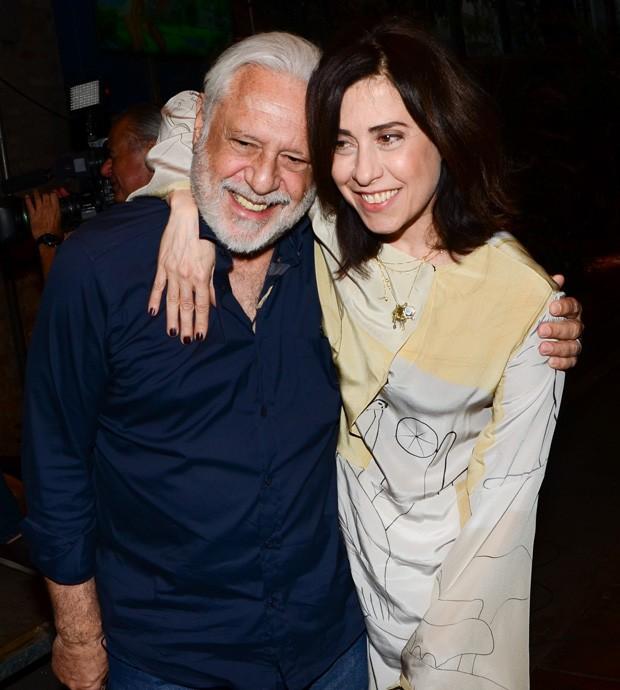 Antônio Fagundes e Fernanda Torres (Foto: Eduardo Martins/AgNews)