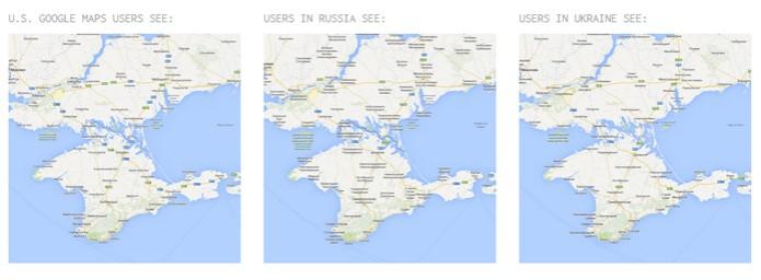 Mapas refletem disputa pelo território da Criméia (foto: Reprodução) (Foto: Mapas refletem disputa pelo território da Criméia (foto: Reprodução))
