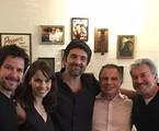 Murilo Benício, Débora Falabella, o diretor Manguinha, Ricardo Linhares e Edney Silvestre | Arquivo pessoal