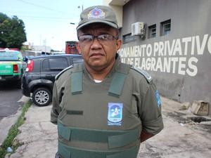 Capitão Francisco Moura, do 9º BPM (Foto: Ellyo Teixeira/G1)