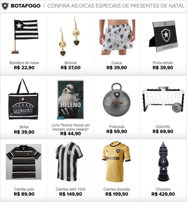 INFO presente Natal Botafogo 2 (Foto: Editoria de Arte / Globoesporte.com)