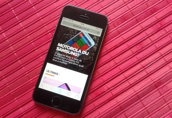 Como tirar print de tela em um iPhone com o botão home quedrado? (Foto: Marvin Costa/TechTudo)