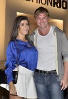 Thor Batista vai com a namorada Paola Leça ao Fashion Rio