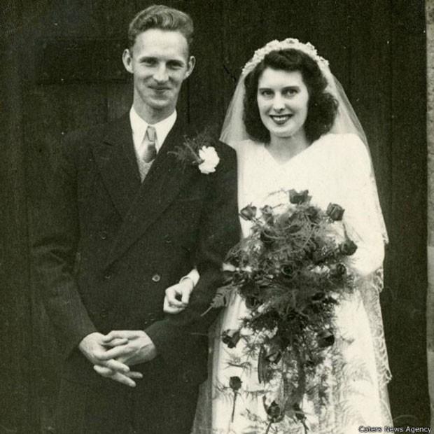 Os dois jovens se casaram depois que Harry voltou da Segunda Guerra Mundial  (Foto: Caters News Agency)
