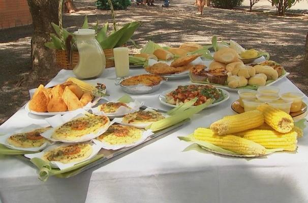 Gastronomia é ponto forte da Festa do Milho de Jaci (Foto: Reprodução/TV TEM)
