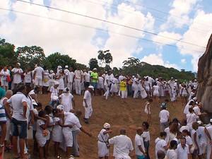 Caminhada Pedra de Xangô, Bahia (Foto: Reprodução/ TV Bahia)