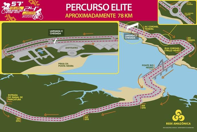 Mapa Ciclísticas Archer Pinto 2016 (Foto: GloboEsporte.com)