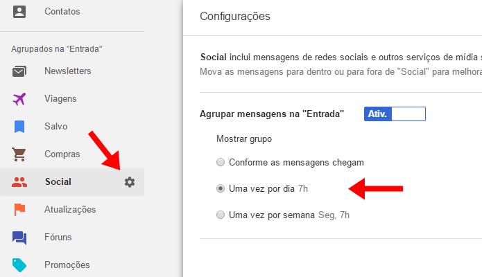 Mude notificações por tipo de e-mail (Foto: Reprodução/Paulo Alves)