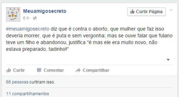 #meuamigosecreto 5 (Foto: Reprodução/Facebook)