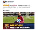 Um atrás do outro: Barça divulga vídeo só com gols de Messi em treinos