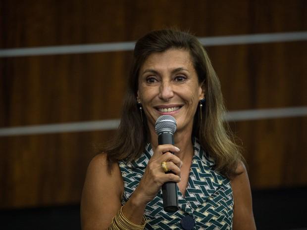 Maria Silvia Bastos Marques durante cerimônia no Rio de Janeiro em janeiro de 2014 (Foto: Yasuyoshi Chiba/AFP/Arquivo)