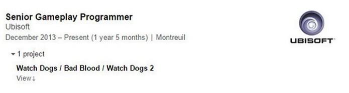 Currículo de dev mostra participação em Watch Dogs 2 (Foto: Reprodução/Gamespot)
