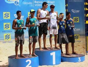 podio masculino challenger sinop (Foto: Nivaldo Alves/CBV)