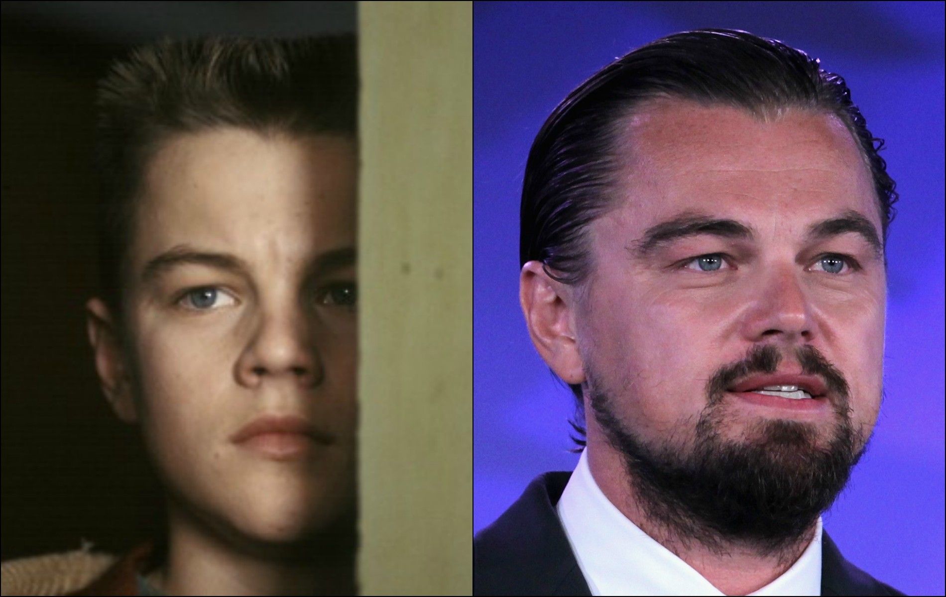 Foi o longa-metragem 'O Despertar de Um Homem' (1993) que Leonardo DiCaprio alcançou o estrelato. O ator tinha 18 anos à época em que gravou o filme e agora tem 39. (Foto: Getty Images)