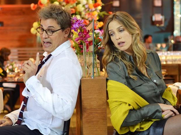 Vânia discute com Felipe (Foto: Divulgação / TV Globo)