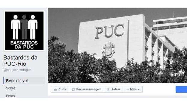 """Grupo """"Bastardos da PUC-Rio"""" no Facebook, que em menos de um mês de criação já conta com quase 6 mil curtidas, recebeu 47 depoimentos e publicou 27 (Foto: Reprodução)"""