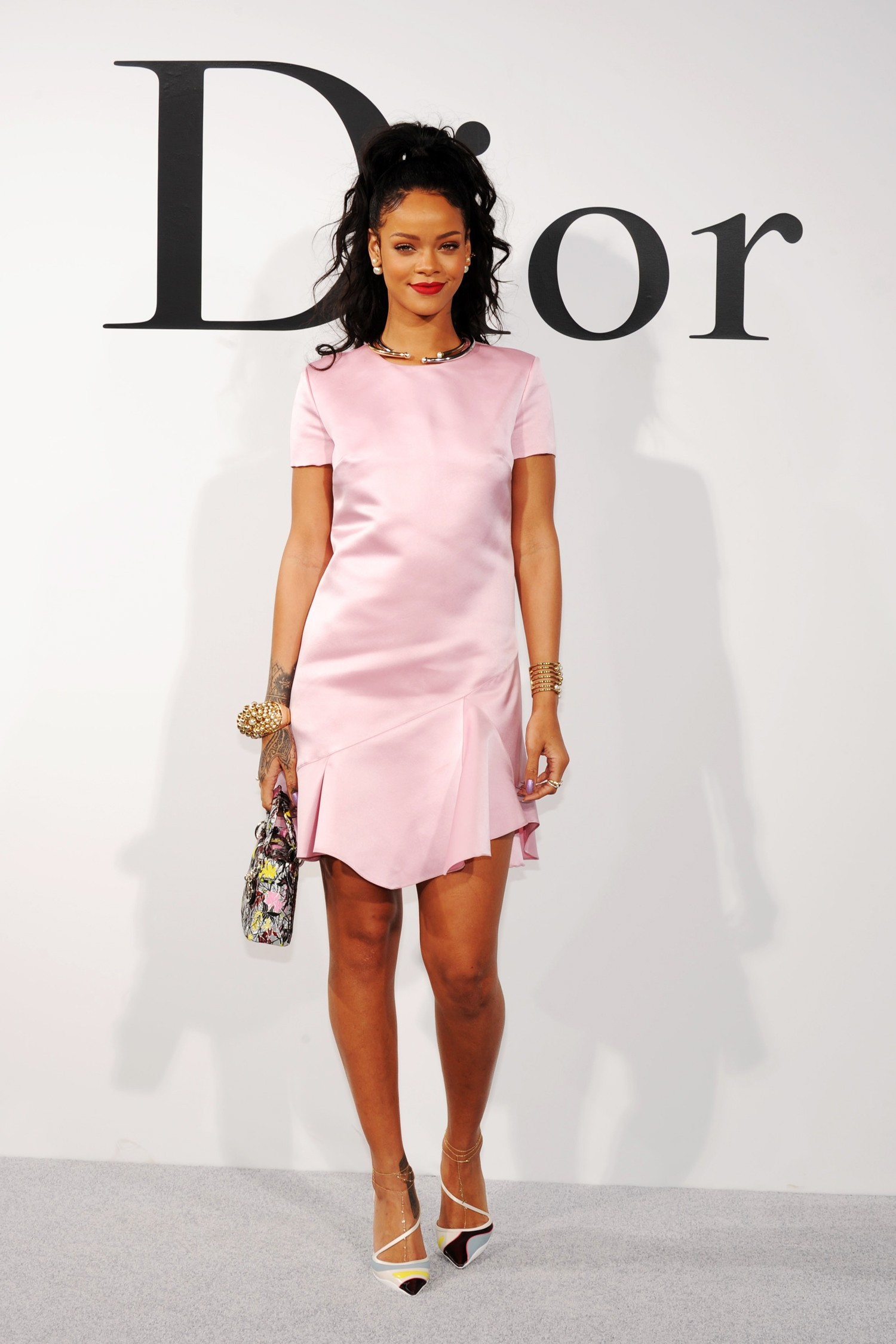 Rihana no desfile de da linha cruise da Dior em maio de 2014 (Foto: Getty Images)