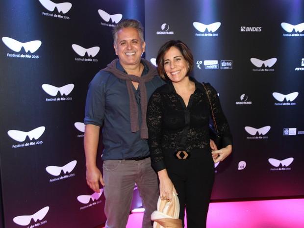 Orlando Moraes e Glória Pires em pré-estreia de filme na Zona Sul do Rio (Foto: Felipe Assumpção/ Ag. News)
