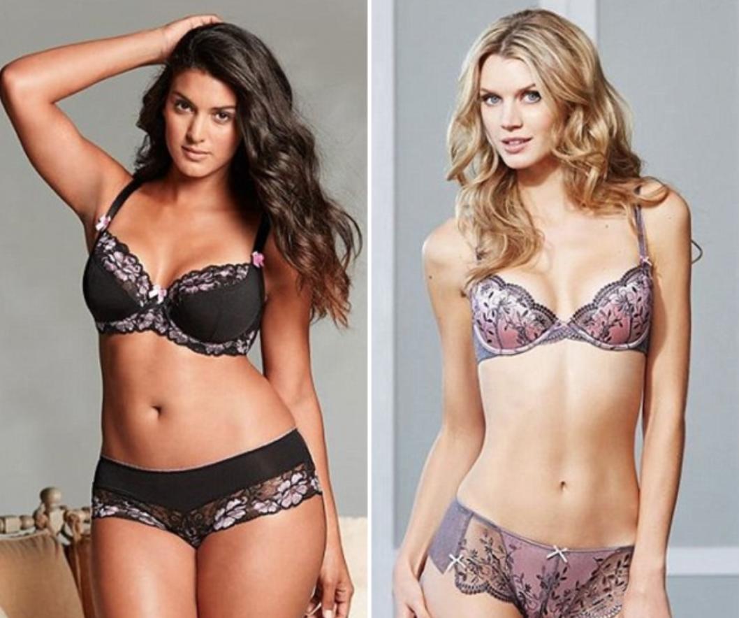 Marca de lingerie faz teste e descobre que modelos muito magras vendem menos