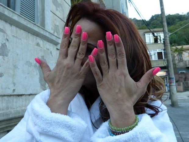 Ela ama o pink!  (Foto: Império/TV Globo)
