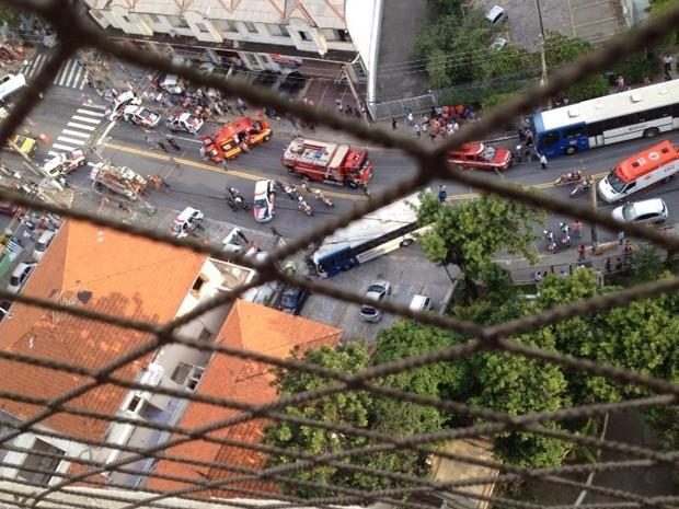 Morador do bairro registrou imagem do acidente  (Foto: Mário Machado/Arquivo Pessoal )