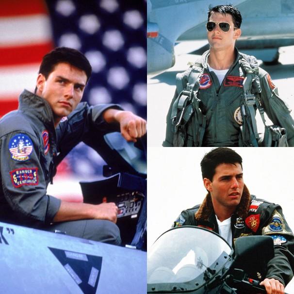 O estilo de Tom Cruise como Maverick de 'Top Gun' virou moda nos anos 1980; o filme passa na Sessão da Tarde (Foto: Divulgação)