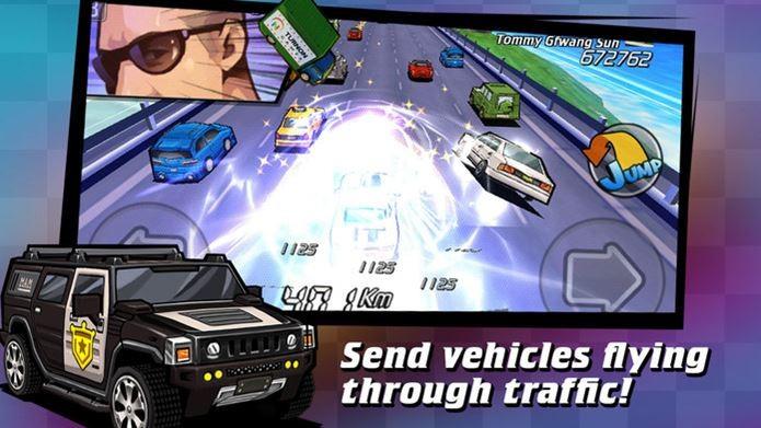 Fuja da polícia em um jogo casual com visual de anime (Foto: Divulgação)