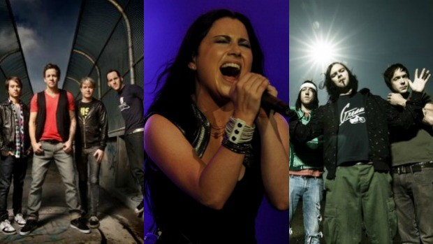 Simple Plan, Evanescence e The Used s&#227;o as atra&#231;&#245;es internacionais do segundo dia do Cear&#225; Music (Foto: Montagem)