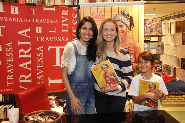 Fernanda Rodrigues Lançamento do livro de Bela Gil na Saraiva do Shopping Leblon (Foto: Marcos Ferreira / Brazil News)