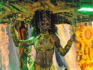 Império da Tijuca - Erika Januza como Oxum (Foto: Alexandre Durão/G1)