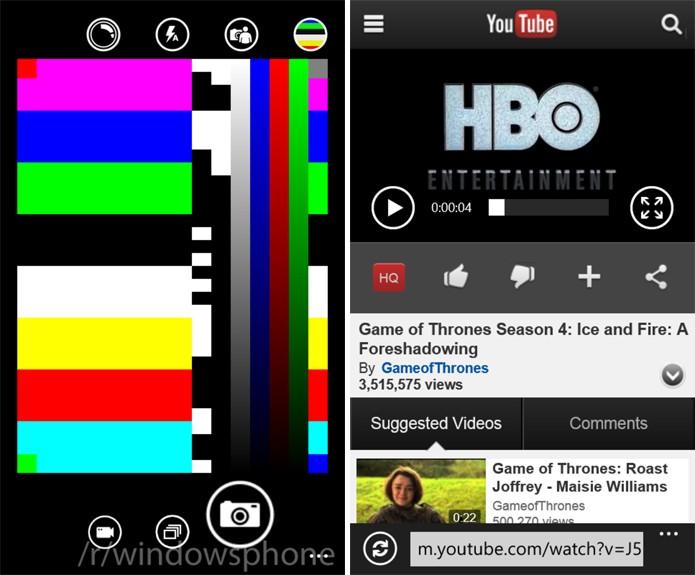 Internet Explorer 11 e aplicativo de câmeras receberão melhorias no novo Windows Phone 8.1 (Foto: Reprodução/The Verge)